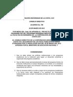 Acuerdo CD 796 Pep Del Programa Ingenieria Industrial