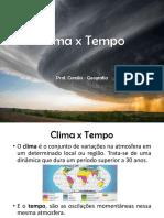 Clima x Tempo