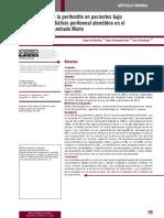 Epidemiología de La Peritonitis