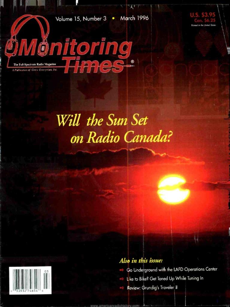 Monitoring-Times Magazine Mar 1996 | Radio | Electronics