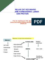 Interrealasi Zat Gizi Makro Metabolisme Karbohidrat, Lemak Dan Protein