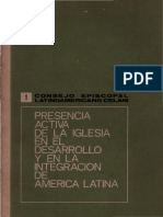 Celam, Devoc - Presencia Aciva de La Iglesia en America Latina