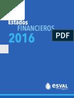 Estados Financieros Esval 2016