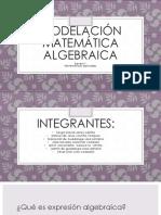 Modelación matemática  algebraica
