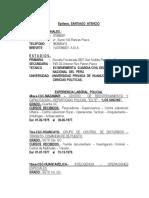 Satiago Atencio- Curriculum