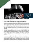 Situs Judi Online Bonus Deposit Terbesar