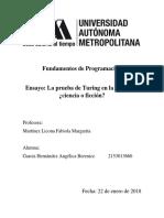 T2 Ensayo - La Prueba de Turing - García Hernández Angélica Berenice
