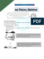 Ficha Fenomenos Fisicos y Quimicos Para Sexto de Primaria