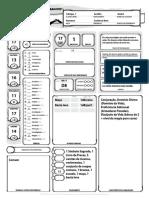 D&D 5E - Ficha de Personagem Completável - Biblioteca Élfica