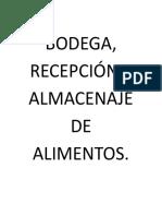 Dossier de Bodega.