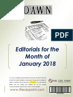 DAWN Editorials January 2018