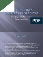Alteraciones Motoras Esofágicas