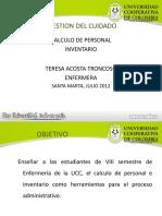 5a Calculo de Personal-Inventario 2012