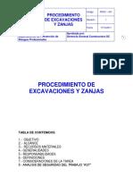 1.Procedimiento Excavaciones y Zanjas