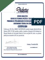 Certificados Editorial Revista Dialectus