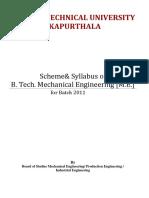 Syllabus (Mechanical Engineering) PTU