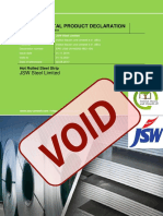 JSW Structural Steel Invalid Void