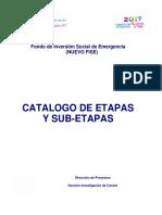 Guía de Costos No 12 - Catálogo de Etapa y Sub-Etapas