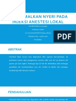 PPT Minimizing the Pain in Local Anesthesia Injection Journal - Cilla & Ipin
