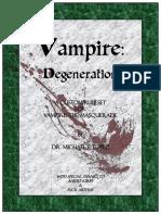 Vampire Degeneration Rulebook