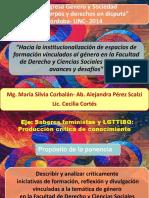 Hacia la institucionalización de espacios de formación en la Facultad de Derecho de la UNC