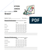 Presentation Evaluation Sheet