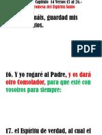 Juan Cap. 14 Versos 15 Al 26.