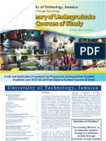 UTechJA - Summary of Undergraduate Courses of Study