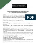 Representacoes Sociais e Ideologia - Ementa