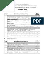 2015 TAE-UFG Criterios Prova Teorico Pratica Planilhas Oficial