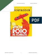 El Avion Rojo de Combate - Manfred Von Richthofen