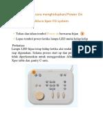 Petunjuk Menyalakan Dan Mematikan Alat Allura Xper FD