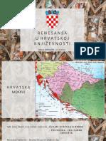 Renesansa u Hrvatskoj Knjizevnosti