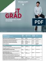 Postgraduate Fee Schedule - Western Sydney University