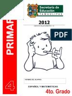 Evaluación para cuarto grado primaria