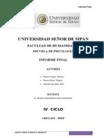 Informe Final Del Bosquejo Experimental Analisis Del Comport a Mien To