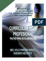 CURRICULUM VITAE. Apuntes Para Estudiantes