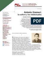 Antonio Gramsci_ La Cultura y Los Intelectuales