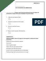 Ejercicios Español