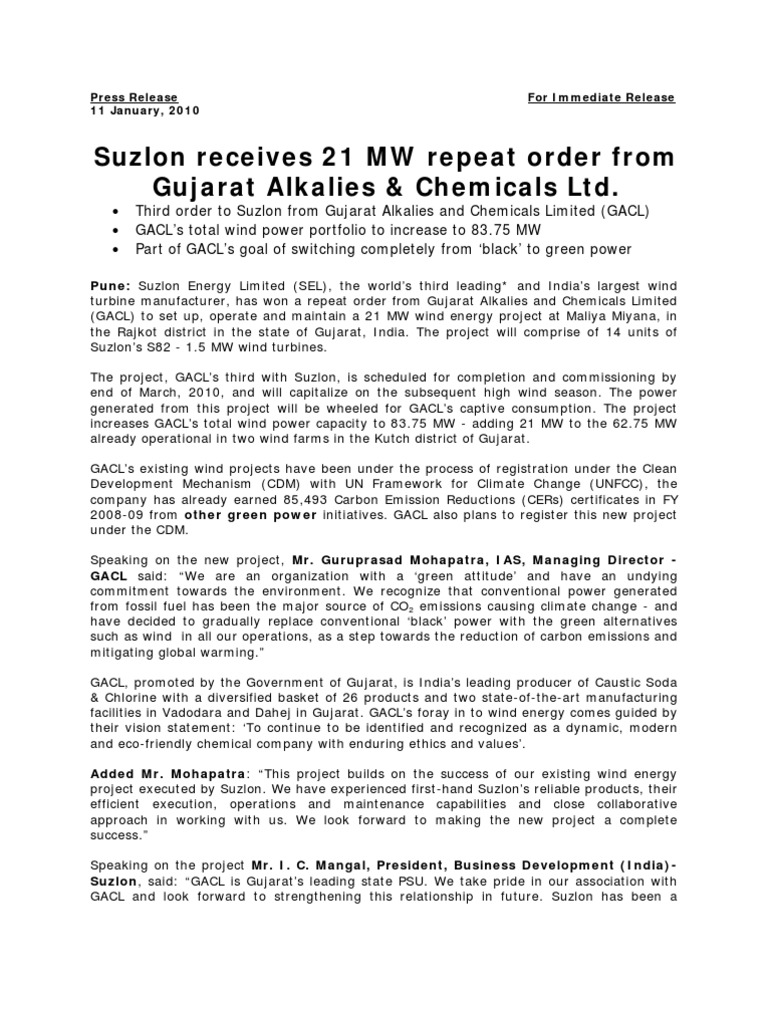 116_gacl Order Release Final r7 | Clean Development