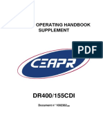 DR400/155CDI Pilot's Operating Handbook (Supplement)