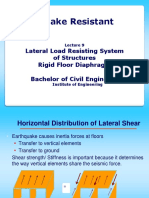 BE Lecture 9  Lateral Load Resisting Systems