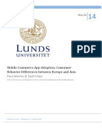 Mobile Commerce App Adoption - Consumer Behavior Differences Between Europe and Asia
