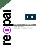 Secundaria y Bachillerato - Repara - Dehonianos - Oraciones 1º Al 3º Domingo de Cuaresma