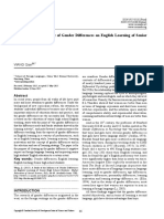 A Study of the Influence of Gender Differences on English Learning
