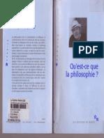Gilles Deleuze Felix Guattari Qu Est Ce Que La Philosophie 1991 Les Editions de Minuit