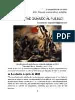 A propósito de un veto Arte, filatelia, numismática, notafilia. La Libertad Guiando al Pueblo.Autor Bernardo González White.
