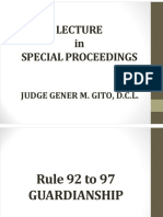 Lecture in Special Proceedings