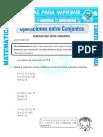 Ficha Operaciones Entre Conjuntos Para Cuarto de Primaria