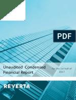 Reverta Financial Report 1st Half 2017